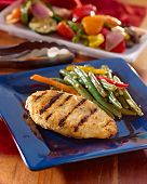 grilled chicken summer meal.