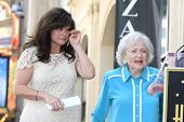 LOS ANGELES - AUG 22: Valerie Bertinelli, Betty White at a ceremony where Valerie Bertinelli is honored with a star on the Hollywood Walk of Fame on August 22, 2012 in Los Angeles, California