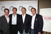 LOS ANGELES - AUG 23:  Christian LeBlanc, Peter Bergman, Eric Braeden, Doug Davidson  arrive at