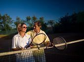 Jugadores de tenis Senior