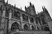 An Angled Shot Of Bath Abbey