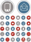 mobile phone & tablet application icons, buttons set, vector