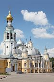 Regional art gallery near Holy Resurrection cathedral on Kremlin square in Vologda, Russia