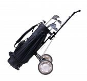 picture of golf bag  - isolated golf bag  with working path - JPG
