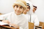 Arabic children in school classroom