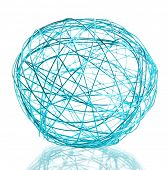 beautiful decorative ball, isolated on white