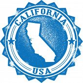 Vintage California State USA Stamp or Seal