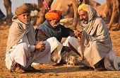 PUSHKAR, INDIA - NOVEMBER 19: Unidentified men attends the Pushkar fair on November 19, 2010 in Push