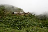 picture of hmong  - Hmong village in the mountains Laos usually reaching by walk