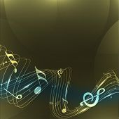 Abstract musical notes wave background. EPS 10.