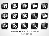 3D web 2.0 mail icons set. Can be used for websites, web applications. email applications or server