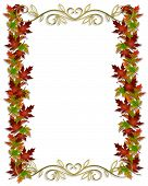 picture of fall leaves  - Image composition for Fall Autumn Leaves corner design or template - JPG