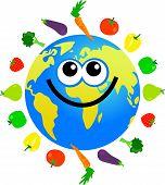 Fruit And Veg Globe poster