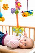 Happy Baby On Crib