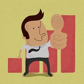 Businessman showing thumbs up , eps10 vector format