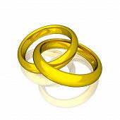 Wedding - Gold Rings (3D)