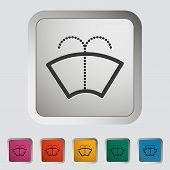 Car icon wiper.