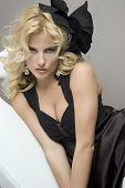 In Black Dress