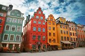 stock photo of scandinavian  - Stortorget place in Gamla stan in Stockholm - JPG
