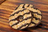 Shortbread Cookies With Fudge Stripes