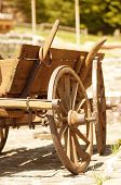 image of horse plowing  - Wooden old horse - JPG