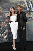 BERLIN - JUN 4: Angelina Jolie, Brad Pitt at the 'WORLD WAR Z' Premiere at Sony Center on June 4, 2013 in Berlin, Germany