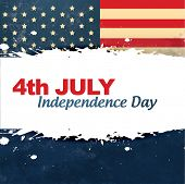 vector vintage style american independence day background