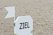 Ziel - deutsche Finish Mark