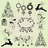 Christmas Design Elements Vector Set