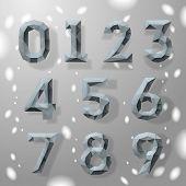 Números geométrica fractal gris moda.