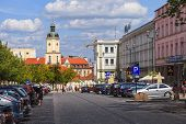 City Life In Bialystok, Poland.