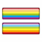 Gay Flag Equal Striped Sticker