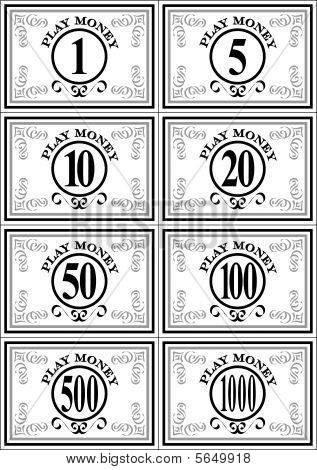 Back > Gallery For > Play Money Template Free