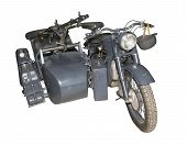German Motorcycle Bmw R-12 With A Machine Gun Mg-34/42