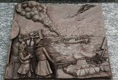 Merchant Marine 3D relief art sculpture in San Francisco