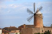 Stone Windmill With Six Vanes