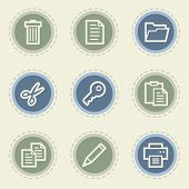Document web icon set 1, vintage buttons