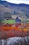 An Abandoned House Flooded By Polluted Water