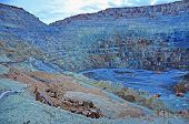 picture of open-pit mine  - Open pit gold mine in Rosia Montana Romania - JPG