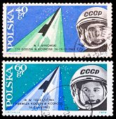 Poland Stamps, Space Flight Of Valeri Bykowski And Valentina Tereskowa