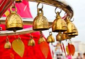 Buddhist Bells In Wat Saket (the Golden Mount), Bangkok, Thailand.