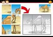 Cartoon Camel Jigsaw Puzzle Game