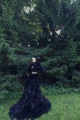 picture of evil queen  - Dark Queen in park - JPG