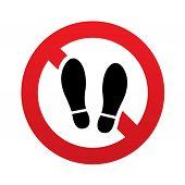 Imprint soles shoes sign icon. Shoe print symbol.