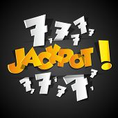 stock photo of lottery winners  - A Creative Abstract Jackpot symbol vector illustration - JPG