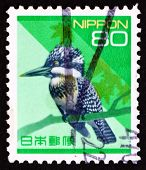 Postage Stamp Japan 1992 Pied Kingfisher, Bird