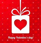 Valentine's Applique Card Or Background. Vector Illustration For Your Design.