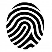 image of personal safety  - vector drawing fingerprint symbol - JPG