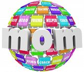 Mom Word Sphere Mother Relationship Parenting Roles