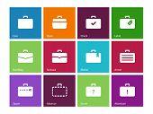 RS Symbole. Taschen und Gepäck reisen.